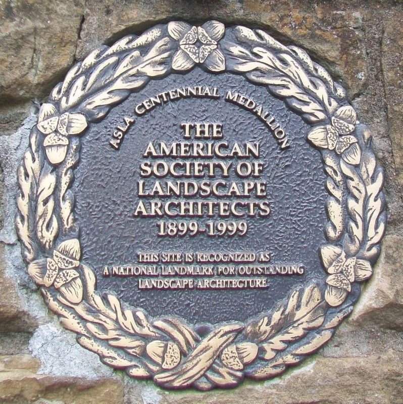American Society of Landscape Architects Centennial Medallion image. Click for full size.
