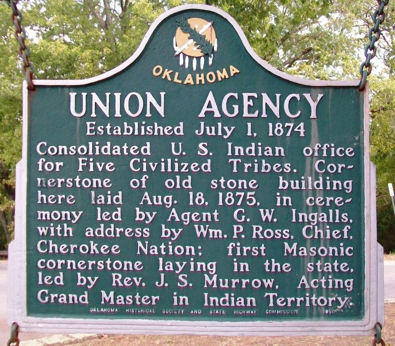 Union Agency Marker image. Click for full size.