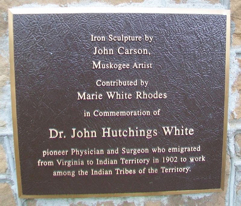 Dr. John Hutchings White Marker image. Click for full size.