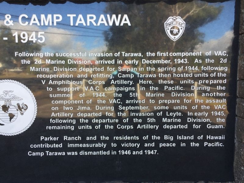 Parker Ranch & Camp Tarawa 1943-1945 stone, right-half image. Click for full size.