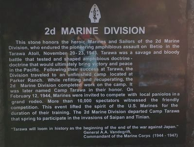 2d Marine Division stone image. Click for full size.