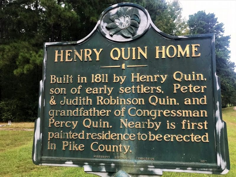 Henry Quin Home Marker image. Click for full size.