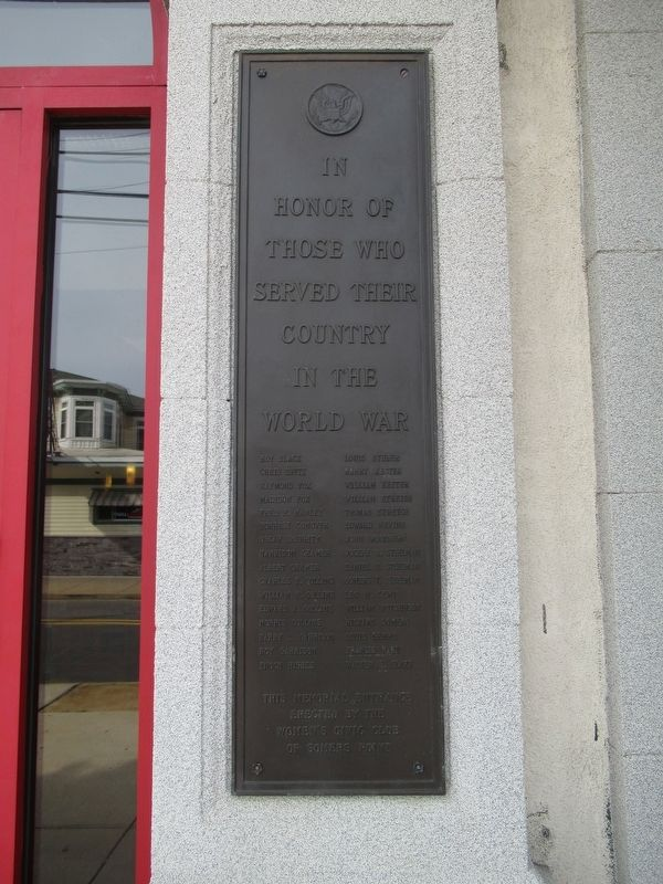 Somers Point World War I Monument image. Click for full size.