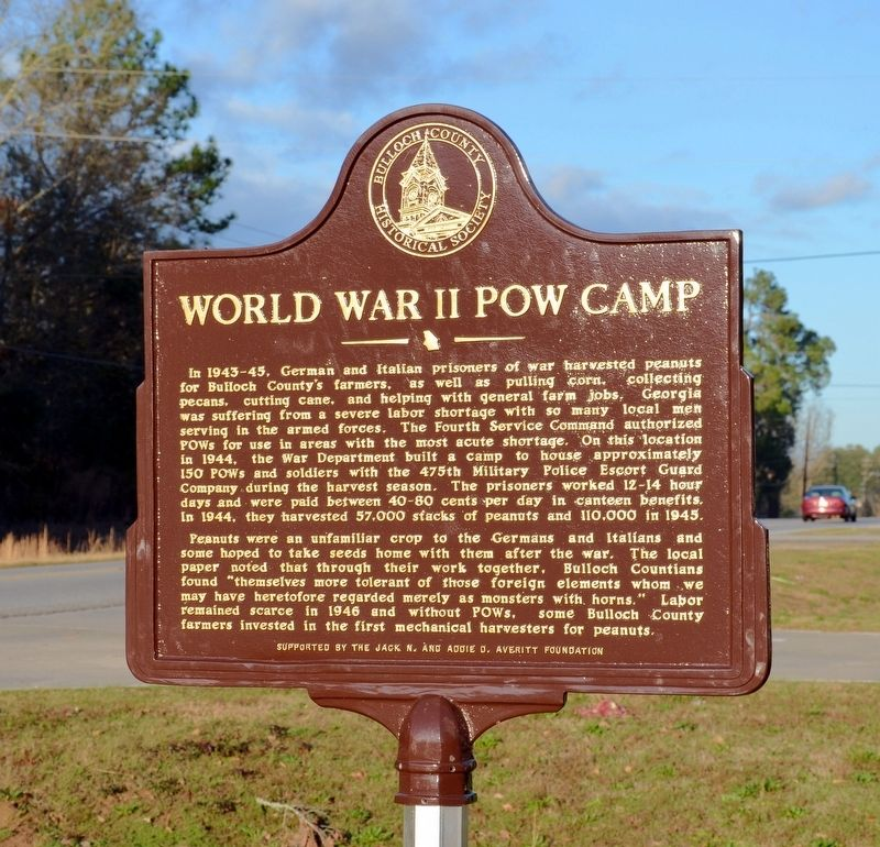 World War II Prison Camp Marker image. Click for full size.