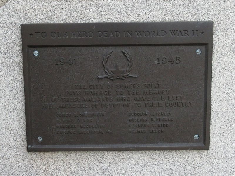 Somers Point World War II Memorial image. Click for full size.