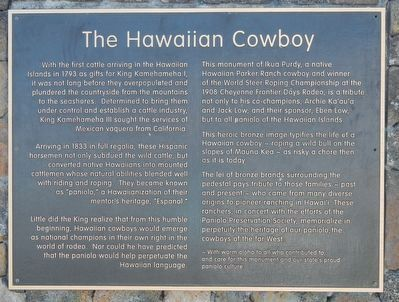 The Hawaiian Cowboys Marker image. Click for full size.
