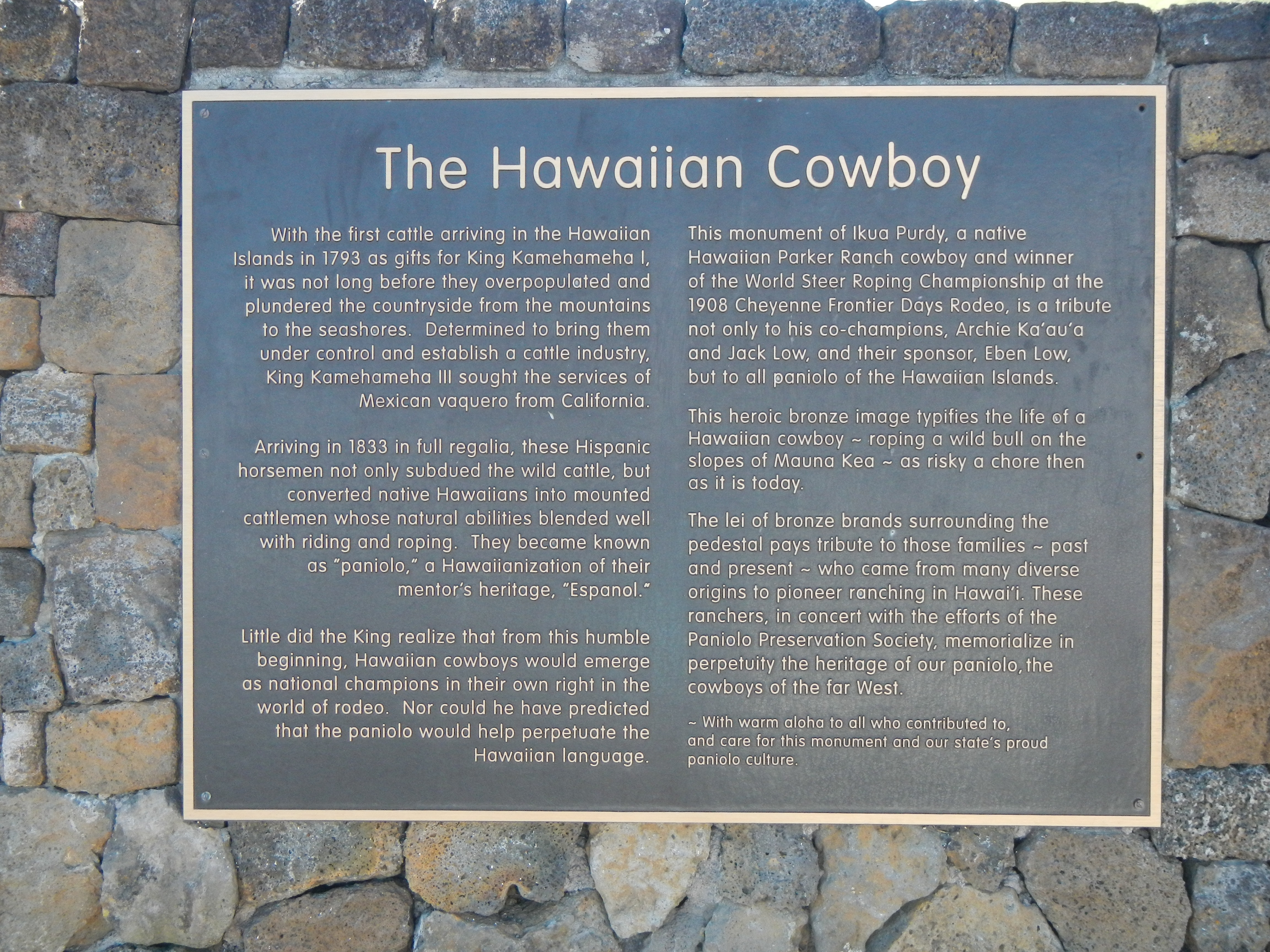 The Hawaiian Cowboys Marker
