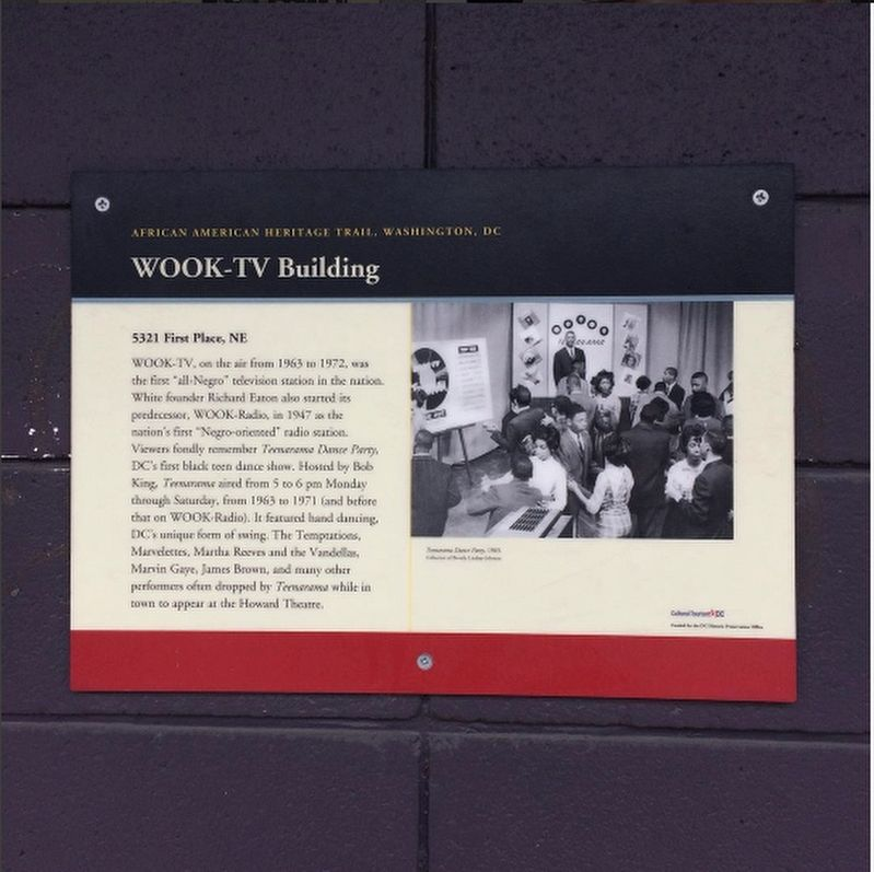 WOOK-TV Building Marker image. Click for full size.