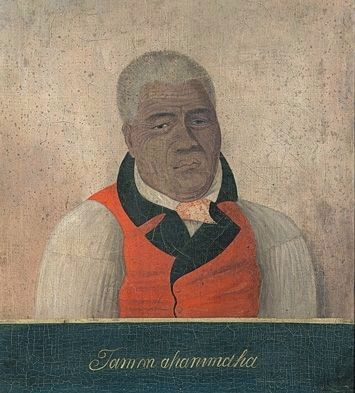 King Kamehameha the Great, portrait depicting him much later in life image. Click for full size.