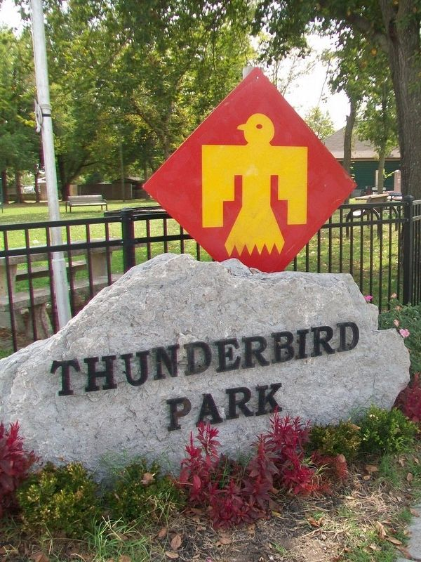 Thunderbird Park Sign image. Click for full size.