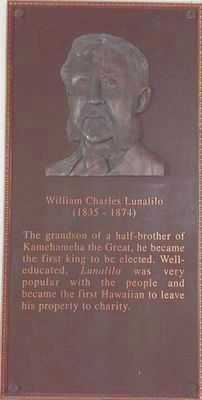 William Charles Lunalilo Marker image. Click for full size.