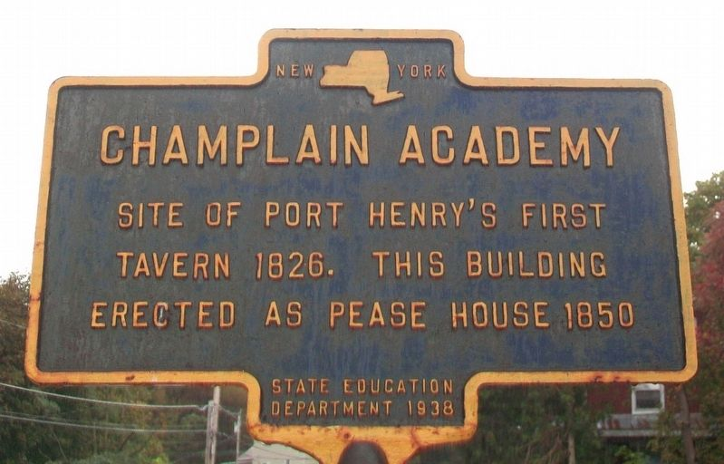 Champlain Academy Marker image. Click for full size.