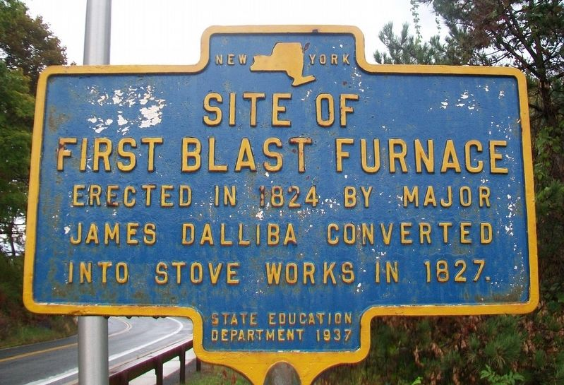 Site of First Blast Furnace Marker image. Click for full size.