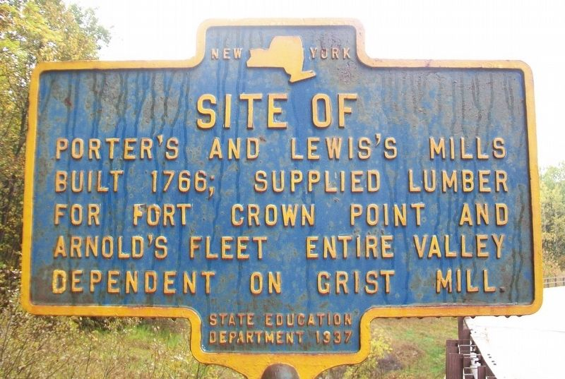 Site of Porter's and Lewis's Mills Marker image. Click for full size.