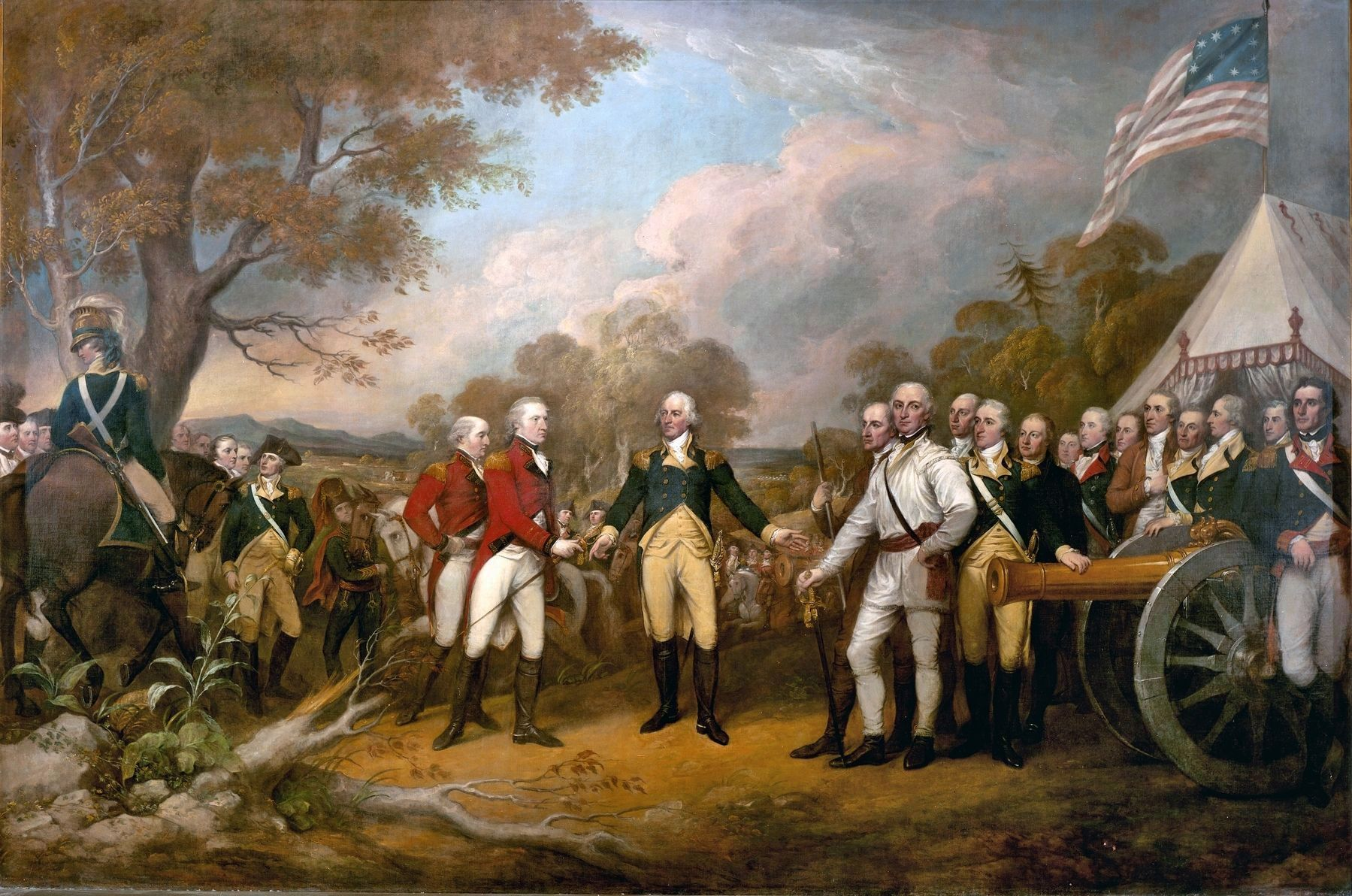 """Surrender of General Burgoyne"" image. Click for full size."