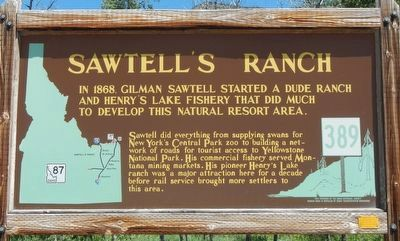 Sawtell's Ranch Marker image. Click for full size.