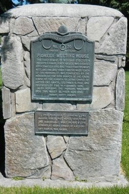 Pioneer Meeting House Marker image. Click for full size.