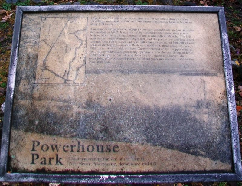 Powerhouse Park Marker image. Click for full size.