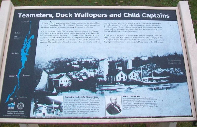 Teamsters, Dock Wallopers and Child Captains Marker image. Click for full size.