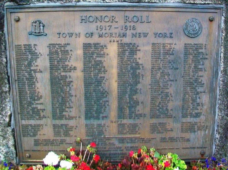 World War I Memorial Honor Roll Marker image. Click for full size.