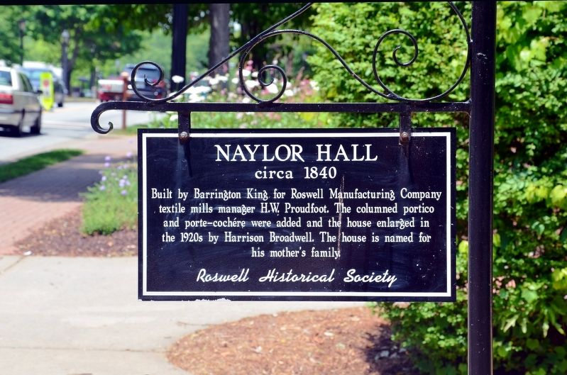 Naylor Hall Marker image. Click for full size.