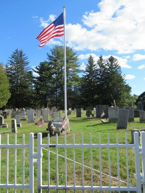 Veterans Monument in the Old Southwick Cemetery image. Click for full size.