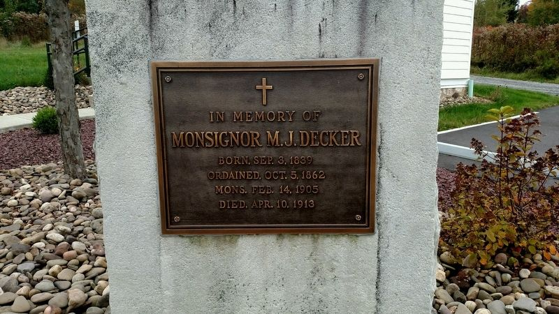 Decker's Chapel Memorial Marker image. Click for full size.