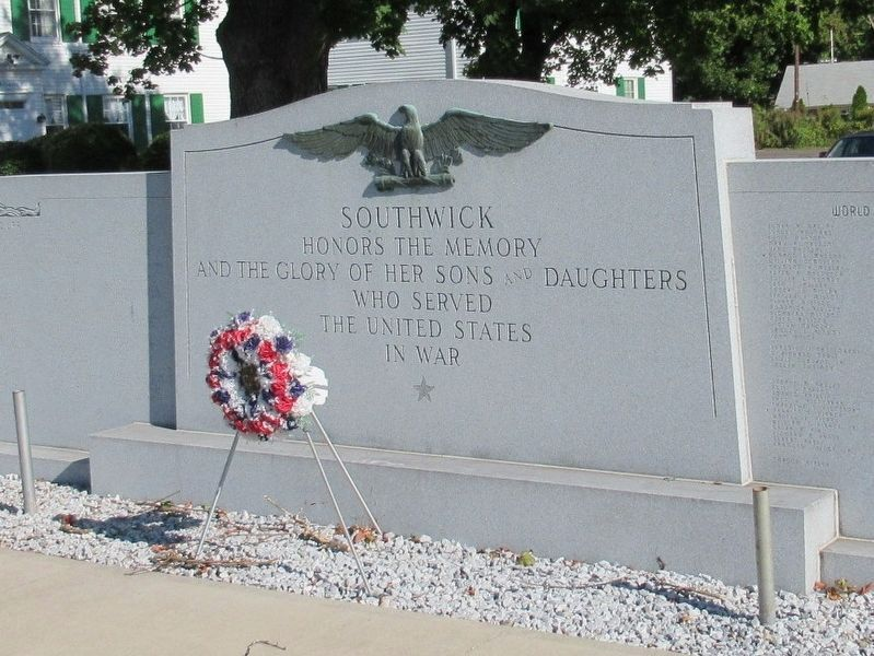 Southwick Veterans Monument image. Click for full size.