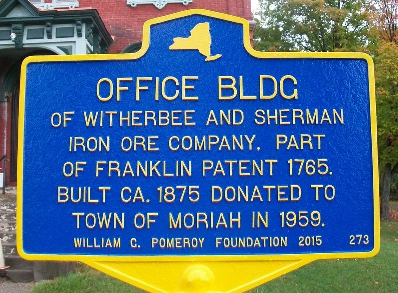 Office Building of Witherbee and Sherman Iron Ore Company Marker image. Click for full size.