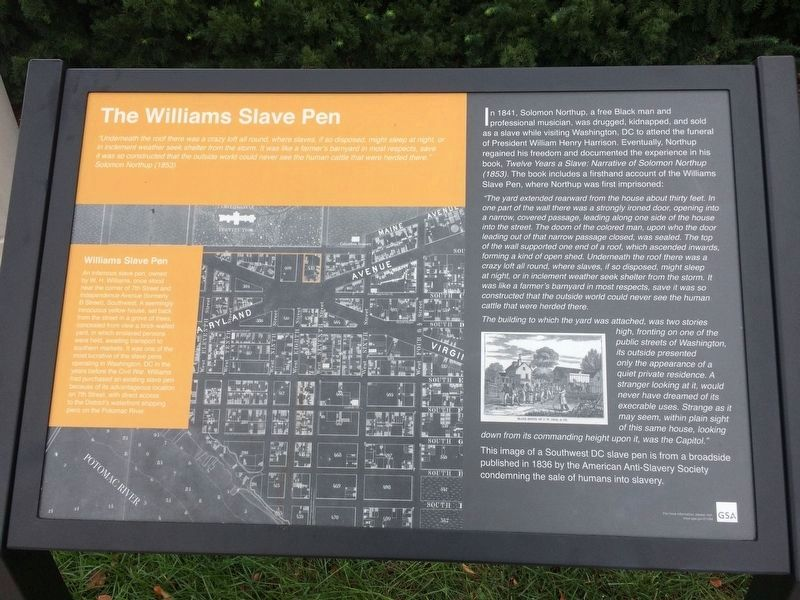 The Williams Slave Pen Marker image. Click for full size.