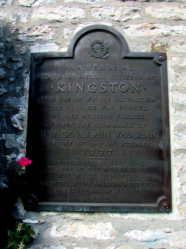 Burning of Kingston Marker image. Click for full size.