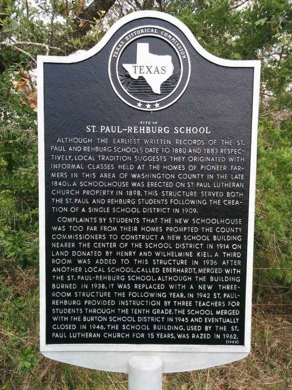 St. Paul-Rehburg School Marker image. Click for full size.