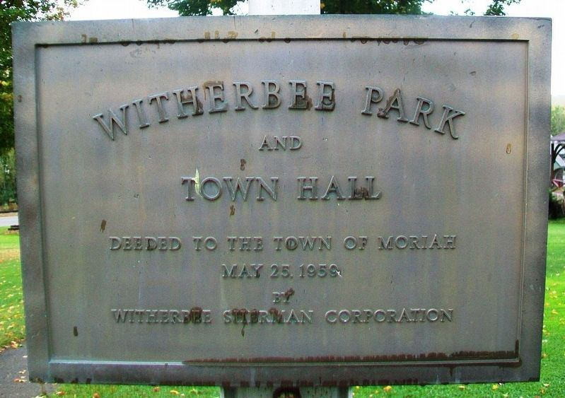 Witherbee Park and Town Hall Marker image. Click for full size.