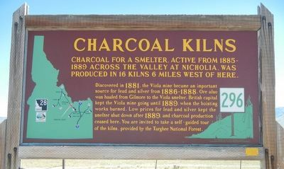 Charcoal Kilns Marker image. Click for full size.