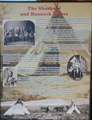 The Shoshone and Bannock Tribes panel image. Click for full size.