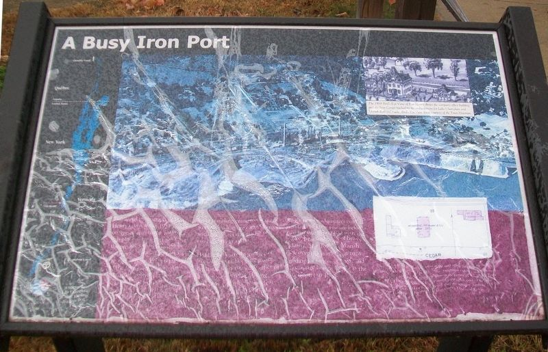 A Busy Iron Port Marker image. Click for full size.