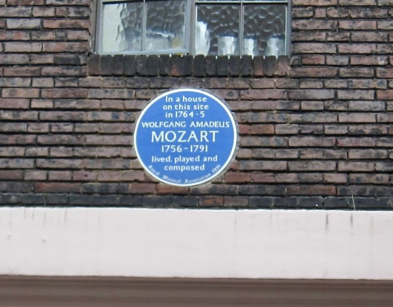 Wolfgang Amadeus Mozart Marker image. Click for full size.