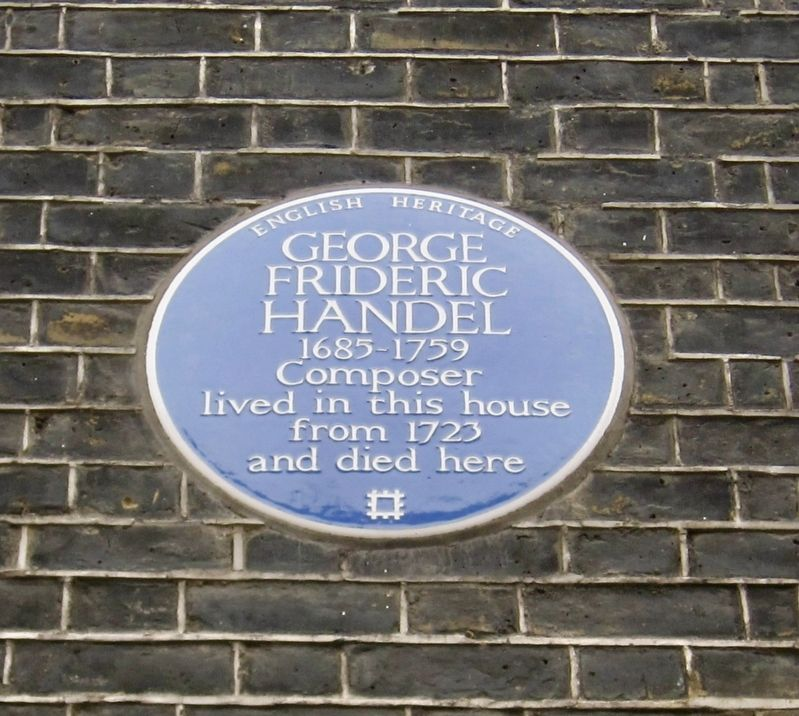 George Frideric Handel Marker image. Click for full size.
