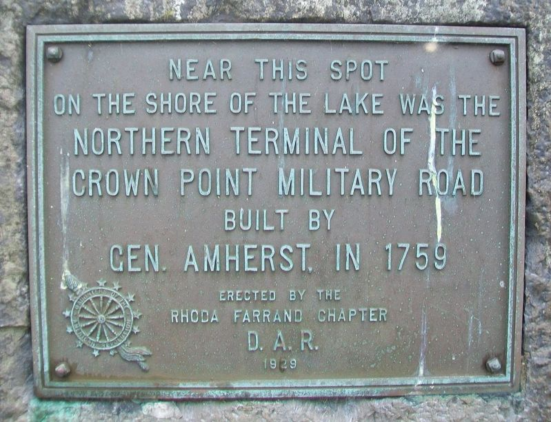 Northern Terminal of the Crown Point Military Road Marker image. Click for full size.