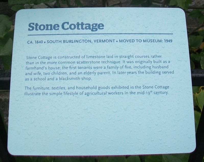 Stone Cottage Marker image. Click for full size.
