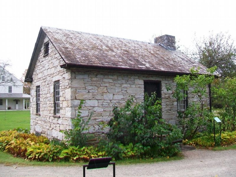 Stone Cottage and Marker image. Click for full size.