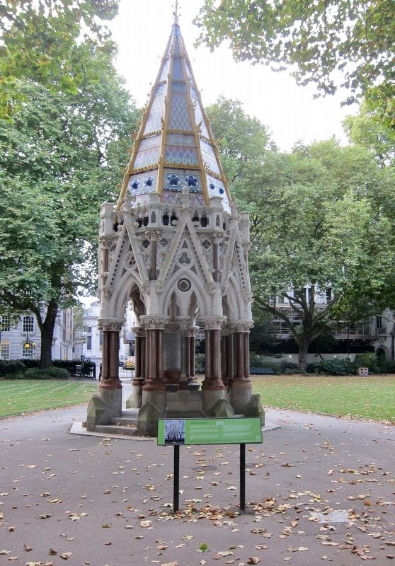 The Buxton Memorial and Marker - Wide View, Looking West image. Click for full size.