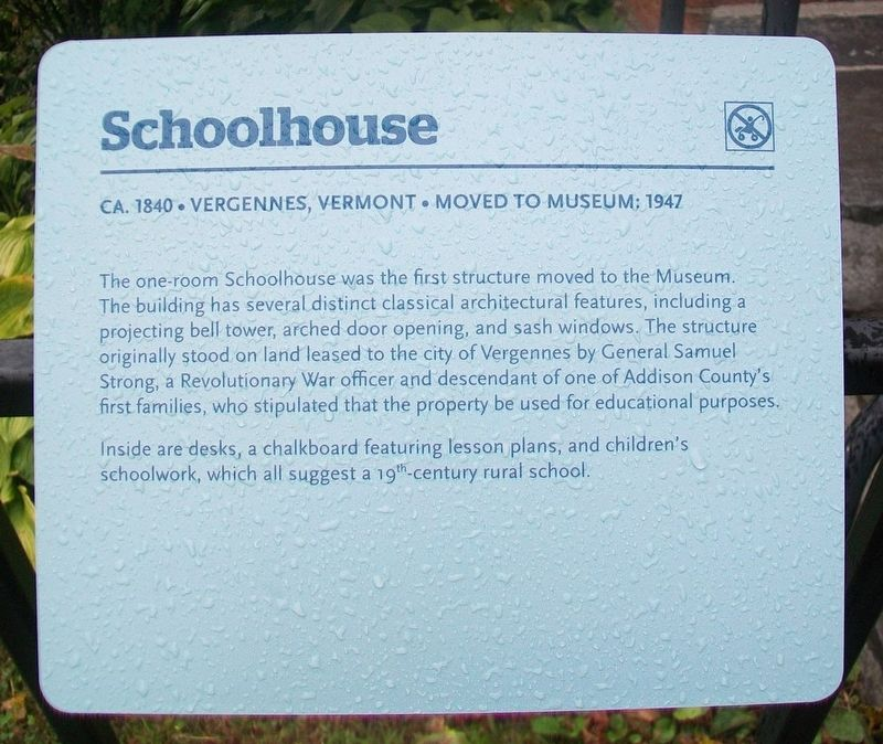 Schoolhouse Marker image. Click for full size.