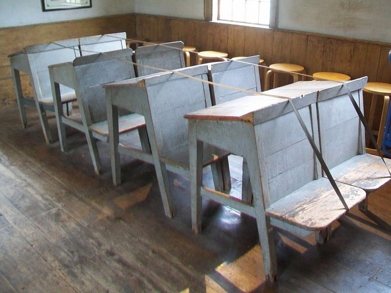Schoolhouse Benches image. Click for full size.