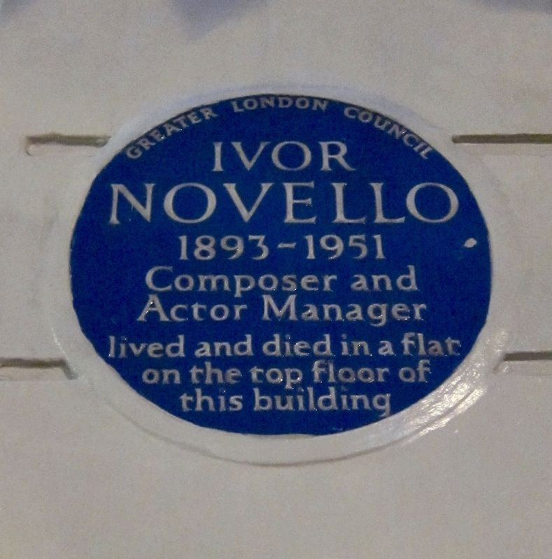 Ivor Novello Marker image. Click for full size.
