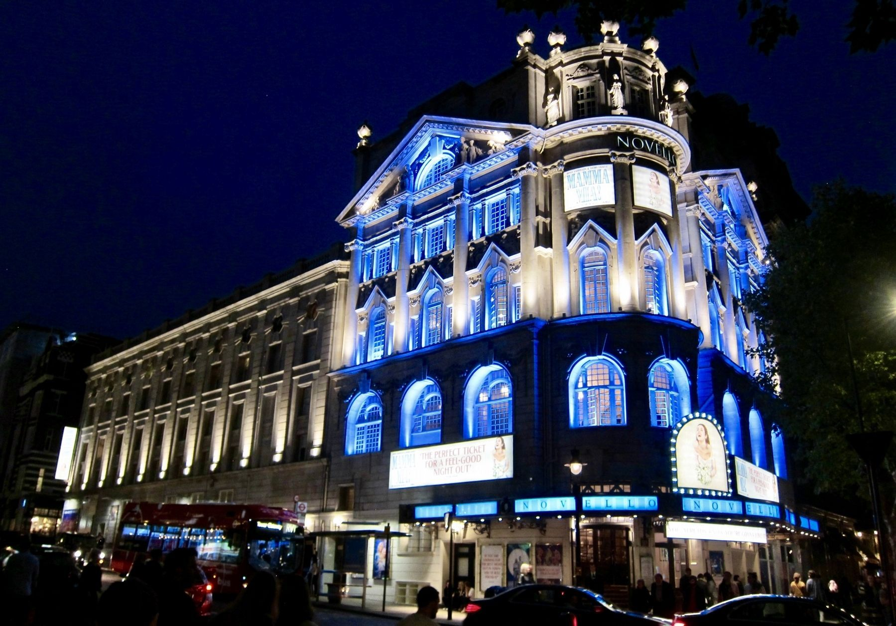 The Novello Theatre (Now playing: <i>Mamma Mia!</i>) image. Click for full size.