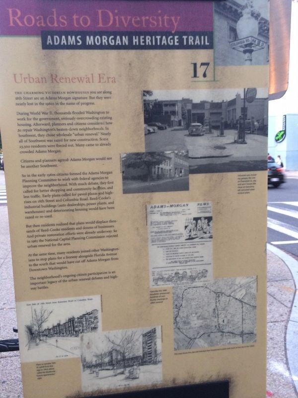Front of Urban Renewal Era Marker image. Click for full size.