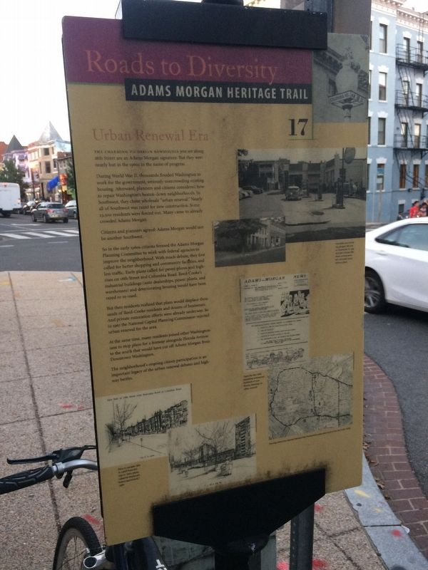 Urban Renewal Era Marker from a couple feet away image. Click for full size.