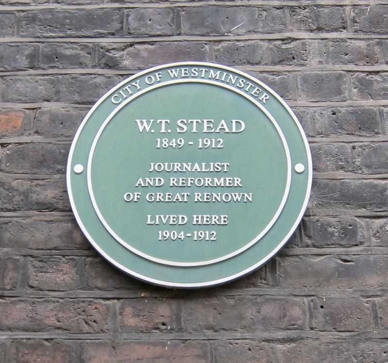 W.T. Stead Marker image. Click for full size.