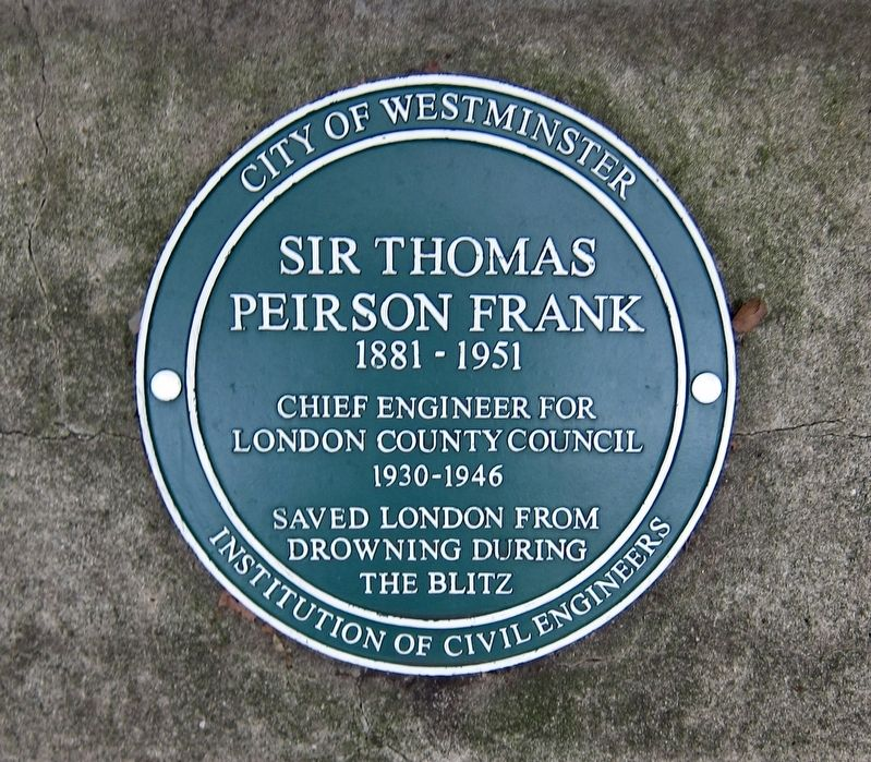 Sir Thomas Peirson Frank Marker image. Click for full size.